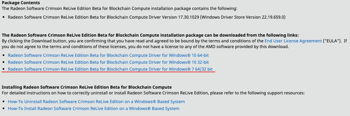 AMD blockchain drivers download