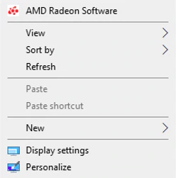 Radeon Settings main window